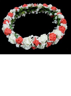 Lovely Foam Flower Wedding Flower Girl Wreath/ Headpiece (042025213)