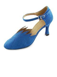 De mujer Tejido Terciopelo Tacones Salón Moderno con Acanalada Zapatos de danza