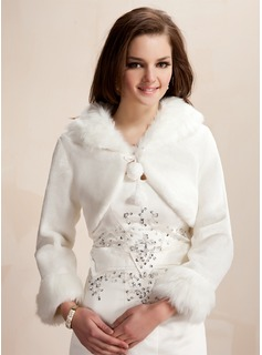 Jackets/Wraps Wedding Wool Wraps With Long Sleeve (013020419)