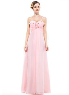 Empire Sweetheart Floor-Length Chiffon Bridesmaid Dress With Cascading Ruffles