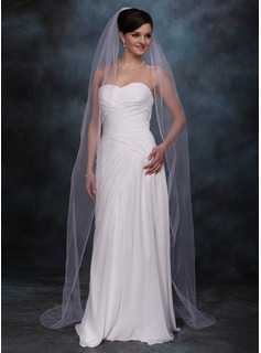 Chapel Veils Tulle One-tier Finished Edge Wedding Veils With Classic (006020357)