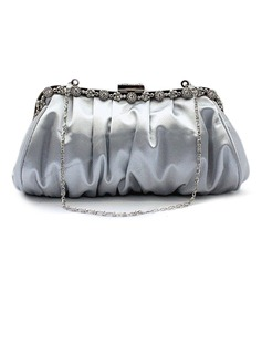 Silver Gorgeous Silk Party Handbags/ Clutches More Colors Available (012005561)