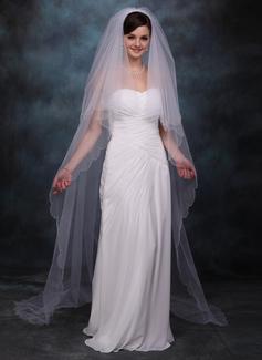 Dos capas Velos de novia capilla con Recortada
