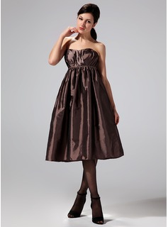Empire Sweetheart Knee-Length Taffeta Maternity Bridesmaid Dresses With Ruffle (045022488)