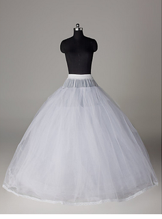 Nylon Ball Gown Full kappe 6 Tier Floor lengde Slip stil / Wedding Petticoats (037023569)