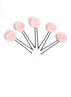 Amazing Alloy/Satin Women's Wedding Hairpins (042024894)