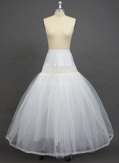 Women Tulle Netting/Spandex Floor-length 2 Tiers Petticoats