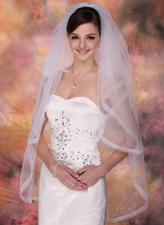 Dos capas Velos de novia vals con Con lazo