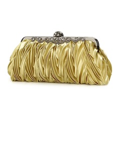Gold Gorgeous Silk Evening Clutches More Colors Available (005005399)
