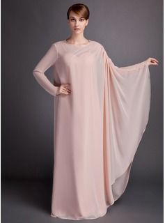 A-Line/Princess Sweetheart Floor-Length Chiffon Mother of the Bride Dress With Ruffle (008005665)