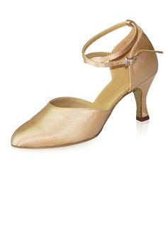 De mujer Satén Tacones Salón Moderno Sala de Baile con Tira de tobillo Zapatos de danza