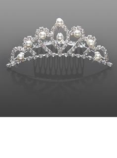 Gorgeous Strass Med Imitation Pärla Bröllop Flower Girl Tiara / headpiece (042015968)
