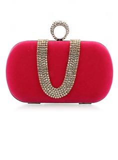 Mode Samt mit Strass Handtaschen
