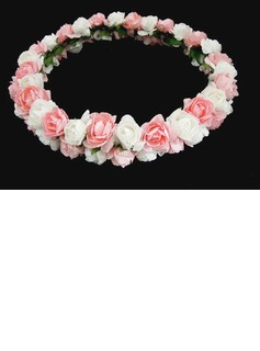 Colorful Lovely Paper Flower Wedding Flower Girl Wreath/ Headpiece  (042025212)