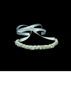 Satin With Crystal / Imitation Pearl Women's Headbands   (042025242)