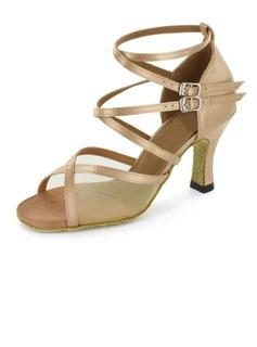 De mujer Satén Tacones Sandalias Danza latina Salsa con Tira de tobillo Zapatos de danza