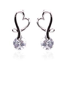 Drop Earrings Party Alloy Rhinestone Earrings With Silver (097020226)
