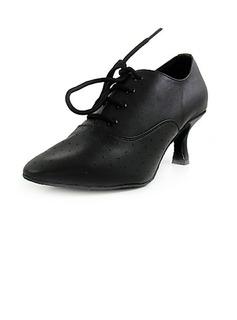 De mujer Piel Tacones Salón Sala de Baile Swing Zapatos de danza
