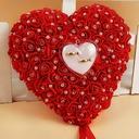 Prächtig Ring Kissen in Seifen-Blume mit Faux-Perlen (103093274)