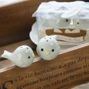 Nido de pájaro Cerámico Sal y Pimienta Shakers con Cintas (Juego de 2 piezas) (051005573)