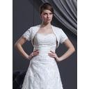 Short Sleeve Satin Wedding Wrap (013022586)