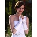 Elastic Satin Elbow Length Bridal Gloves (014003779)
