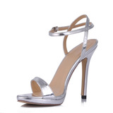 Patent Leather Stiletto Heel Slingbacks Sandals Wedding Shoes (087015248)