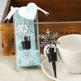 Snowflake Bottle Stopper in Shimmering Gift Box (052016111)