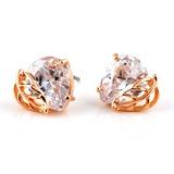 Stilvoll Zirkon/Vergoldet Frauen Ohrringe
