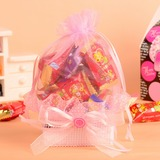Classic Basket Favor Bags With Ribbons (Set of 12)