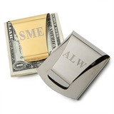 Personalized Simple Stainless Steel Money Clips (051029003)
