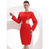 Sheath/Column Scoop Neck Knee-Length Cocktail Dress