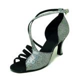 Femmes Pailletes scintillantes Sandales Latin Salle de bal Chaussures de danse