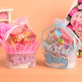 Amour doux Basket Sacs cadeaux avec Rubans (Lot de 12)