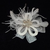 Classic Rhinestone/Feather/Tulle Flowers & Feathers