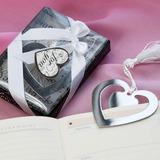 """""""Historia de amor"""" En forma de corazón Acero inoxidable Marcadores con Cintas/Borla"""