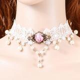Elegant Alloy/Lace Women's Necklaces