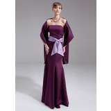 Mermaid Strapless Floor-Length Satin Bridesmaid Dress With Sash Beading (007000967)