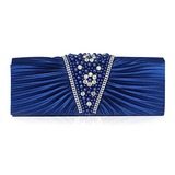Satin With Imitation Pearl Clutch/Evening Bag (More Colors)  (012011039)