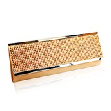 (Gold)Gorgeous Acrylic Rhinestones/ Satin Shell Evening Handbags/ Clutches (012013434)