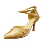 Femmes Satiné Talons Escarpins Moderne avec Lanière de cheville Chaussures de danse