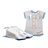 Baby Dress Design Cuboid Favor Bags With Ribbons