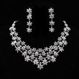 Snowflakes Shaped Alloy/Rhinestones Ladies' Jewelry Sets