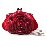 Red Gorgeous Satin Evening Handbags/ Clutches More Colors Available (012005455)