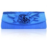 Gorgeous Shining Satin Shell With Applique Evening Handbags (012010110)