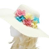 Bunte Importierte Papier/Rattan Stroh Blumen und Federn