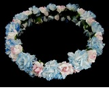 Lovely Pink & Blue Flowers Wedding/Special Occasion Headpiece (042025092)