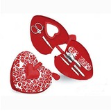 Red Hearts 6piece Manicure/Pedicure Set Wedding Favor (051024721)