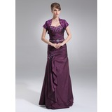Mermaid Sweetheart Floor-Length Taffeta Mother of the Bride Dress With Ruffle Lace Beading (008005576)