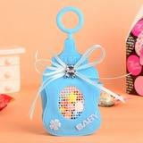 Peluche pour bébé En forme de bouteille Sacs cadeaux avec Bow (Lot de 12)
